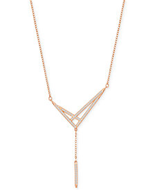 Swarovski Crisscross Pavé Y-Necklace