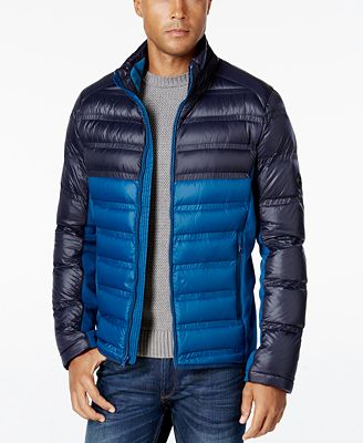 Michael Kors Quilted Colorblocked Down Jacket - Mens Coats - SLP ... : quilted down jacket mens - Adamdwight.com