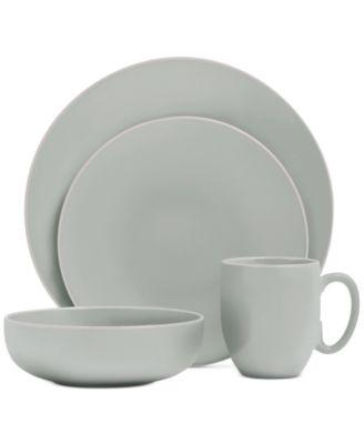 Vera Color Teal 16-Piece Dinnerware Set, Service for 4