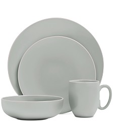 Vera Wang Wedgwood Vera Color Teal 16-Piece Dinnerware Set, Service for 4