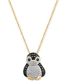EFFY® Diamond Penguin Pendant Necklace (5/8 ct. t.w.) in 14k Gold