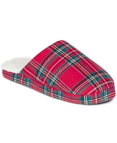 Family Pajamas Women's Brinkley Plaid Slippers, Only at