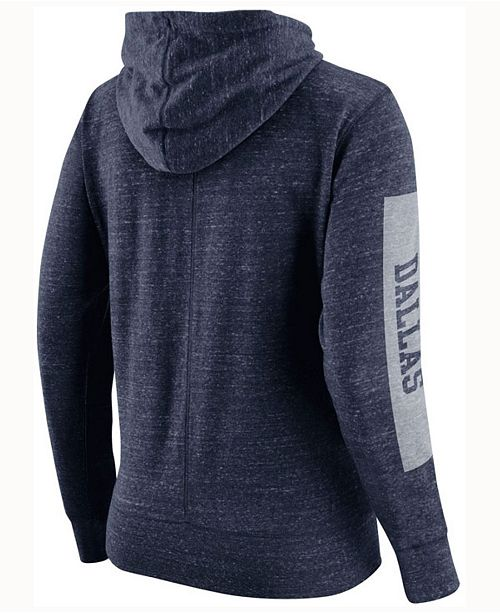 0b025e5a9 Nike Women s Dallas Cowboys Tailgate Vintage Full-Zip Hoodie ...