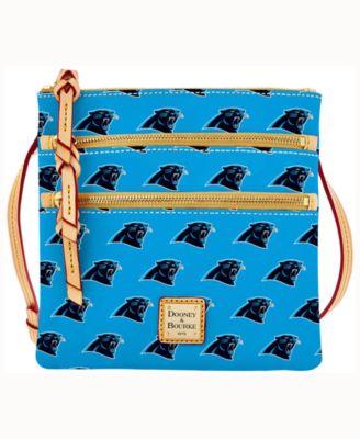 Carolina Panthers Dooney & Bourke Triple-Zip Crossbody Bag