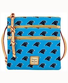 Dooney & Bourke Carolina Panthers Dooney & Bourke Triple-Zip Crossbody Bag