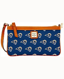 Dooney & Bourke Large Slim Wristlet NFL Collection