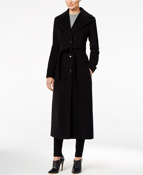 315a7d412 Calvin Klein Faux-Fur-Trim Maxi Coat & Reviews - Coats - Women - Macy's