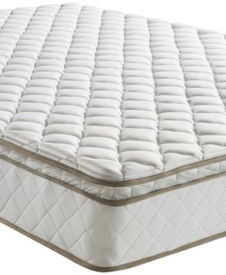 "Sleep Trends Davy 10"" Wrapped Coil Pillow Top Firm Mattress, Quick Ship, Mattress in a Box- Twin"