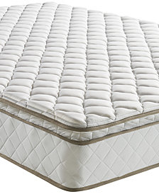"Sleep Trends Davy 10"" Wrapped Coil Pillow Top Firm Mattress, Quick Ship, Mattress in a Box- Queen"