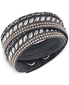 Swarovski Stainless Steel Slake Pulse Crystal Wrap Bracelet
