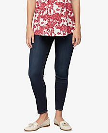 Luxe Essentials Denim Maternity Rinse Wash Skinny Jeans