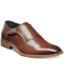 Stacy Adams Men's Dinsmore Plain Toe Monk Strap Loafers