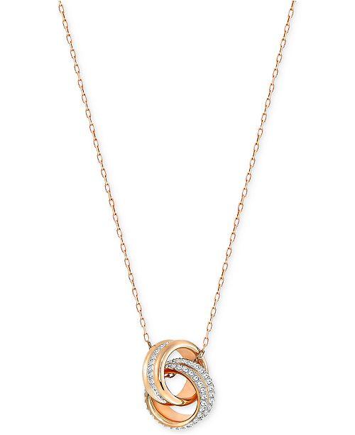 Swarovski Double Ring Pavé Pendant Necklace - Fashion Jewelry ... be4ca852af