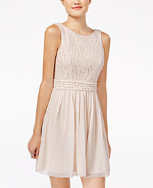 Speechless Juniors' Glitter Lace Party Dress A Macy's Exclusive