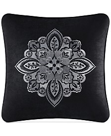 "J. Queen New York Giuliana Embroidered 18"" Square Decorative Pillow"