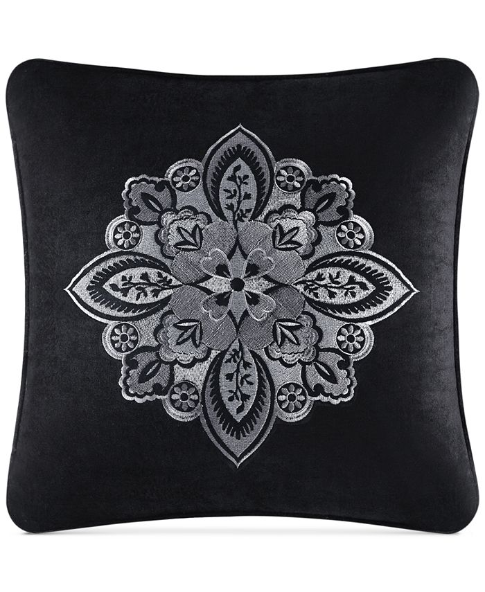 """J Queen New York - Giuliana Embroidered 18"""" Square Decorative Pillow"""