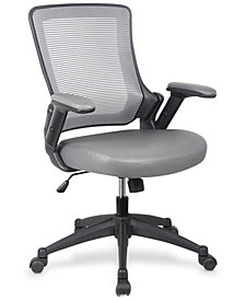 Techni Mobili Office Chair Gray , Quick Ship