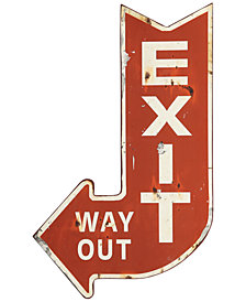 Metal Exit Sign Wall Art