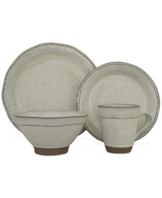 main image  sc 1 st  Macyu0027s & Sango Cyprus White 16-Piece Dinnerware Set - Dinnerware - Dining ...
