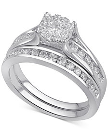 Diamond Bridal Channel Set 1 Ct T W In 14k White Yellow Or