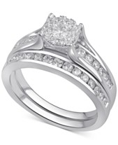 Bridal Set Womens Engagement And Wedding Rings Macy S