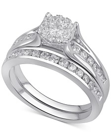 Diamond Bridal Channel Set (1 ct. t.w.) in 14k White, Yellow or Rose Gold