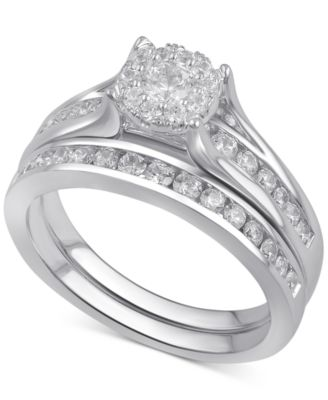 Diamond Bridal Channel Set (1 Ct. T.w.) In 14k White, Yellow Or