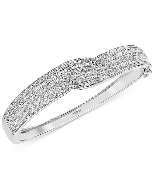 EFFY Collection Classique by EFFY® Diamond Bangle Bracelet (1-3/4 ct. t.w.) in 14k Gold & White Gold