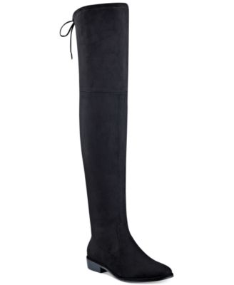 Marc Fisher Women/'s Humor 2 Faux Suede Flat Over the Knee Riding Boots