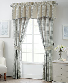 "Waterford Allure Slate Gray 21"" x 55"" Scalloped Window Valance"