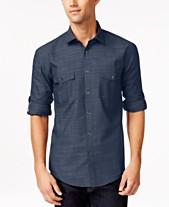 355bb8ad5d Alfani Men s Warren Long Sleeve Shirt