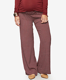A Pea In The Pod Maternity Wide-Leg Printed Pants