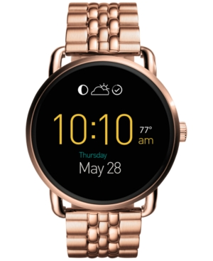 Fossil Q Wander Rose Gold-Tone Stainless Steel Bracelet Touc