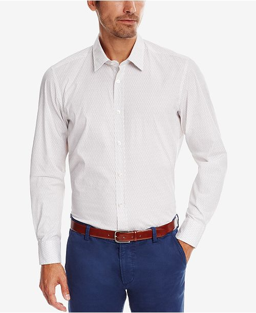 c39176f2b Hugo Boss. BOSS Men's Regular/Classic-Fit Printed Stretch Button-Down Shirt.  Be the first to Write a Review. main image; main image ...