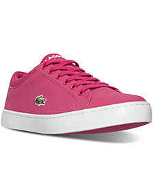 Lacoste Big Girls' Straightset Lace 316 Casual Sneakers from Finish Line