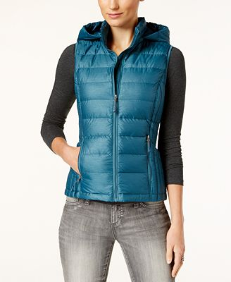 32 Degrees Packable Down Hooded Puffer Vest, Created for Macy's
