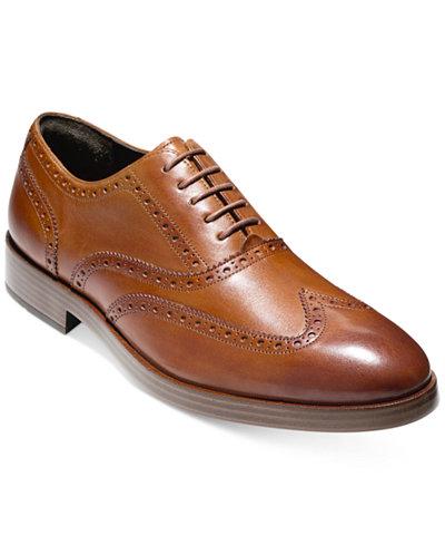 Cole Haan Men's Henry Grand Short Wing-Tip Oxfords