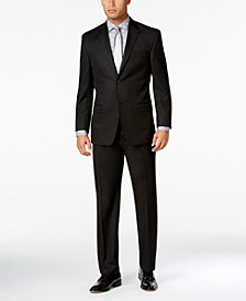 Men's Classic-Fit Black Solid Suit Separates