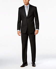 Sean John Men's Classic-Fit Black Solid Suit Separates