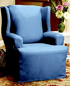 Sure Fit Duck Wing Chair Slipcover