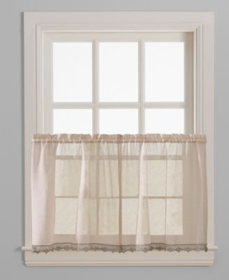"Leanne Pair of 28"" x 36"" Tier Curtains"