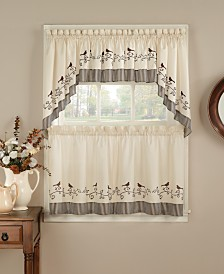 CHF Birds Valance, Swag and Tier Pair Collection