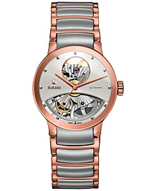 Women's Swiss Automatic Centrix Open Heart Two-Tone PVD Stainless Steel Bracelet Watch 33mm R30248012