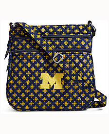Vera Bradley Michigan Wolverines Triple Zip Hipster