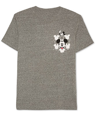 Men's Mickey Mouse Graphic Print Pocket T Shirt by Jem