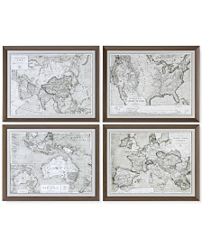 Uttermost World Maps 4-Pc. Framed Print Wall Art