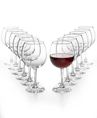 Martha Stewart Collection 12 Pc Red Wine Glasses Set Created For