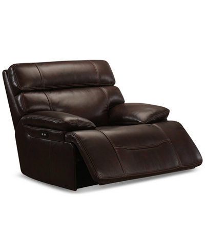 Barington Leather Power Glider Recliner with Power Headrest