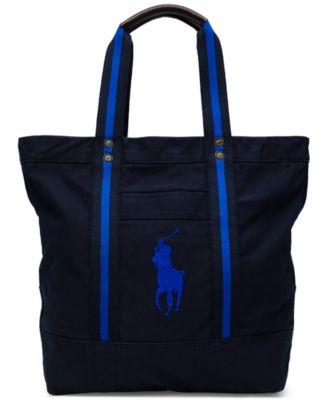 Polo Ralph Lauren Men\u0027s Big Pony Canvas Tote Bag
