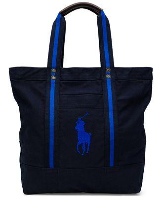 Polo Ralph Lauren Men's Big Pony Canvas Tote Bag - Accessories ...